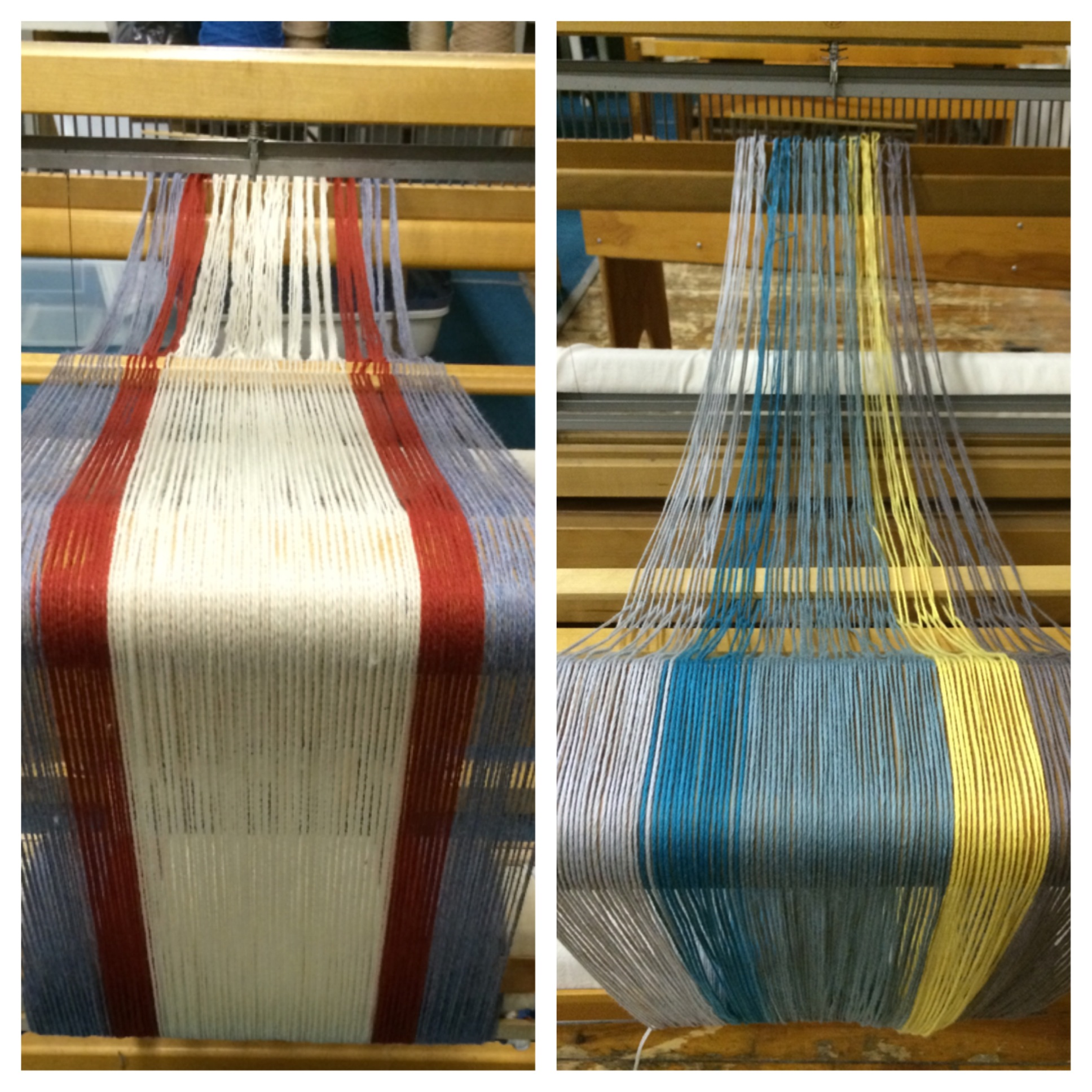Putting everything on the loom - end of day 1