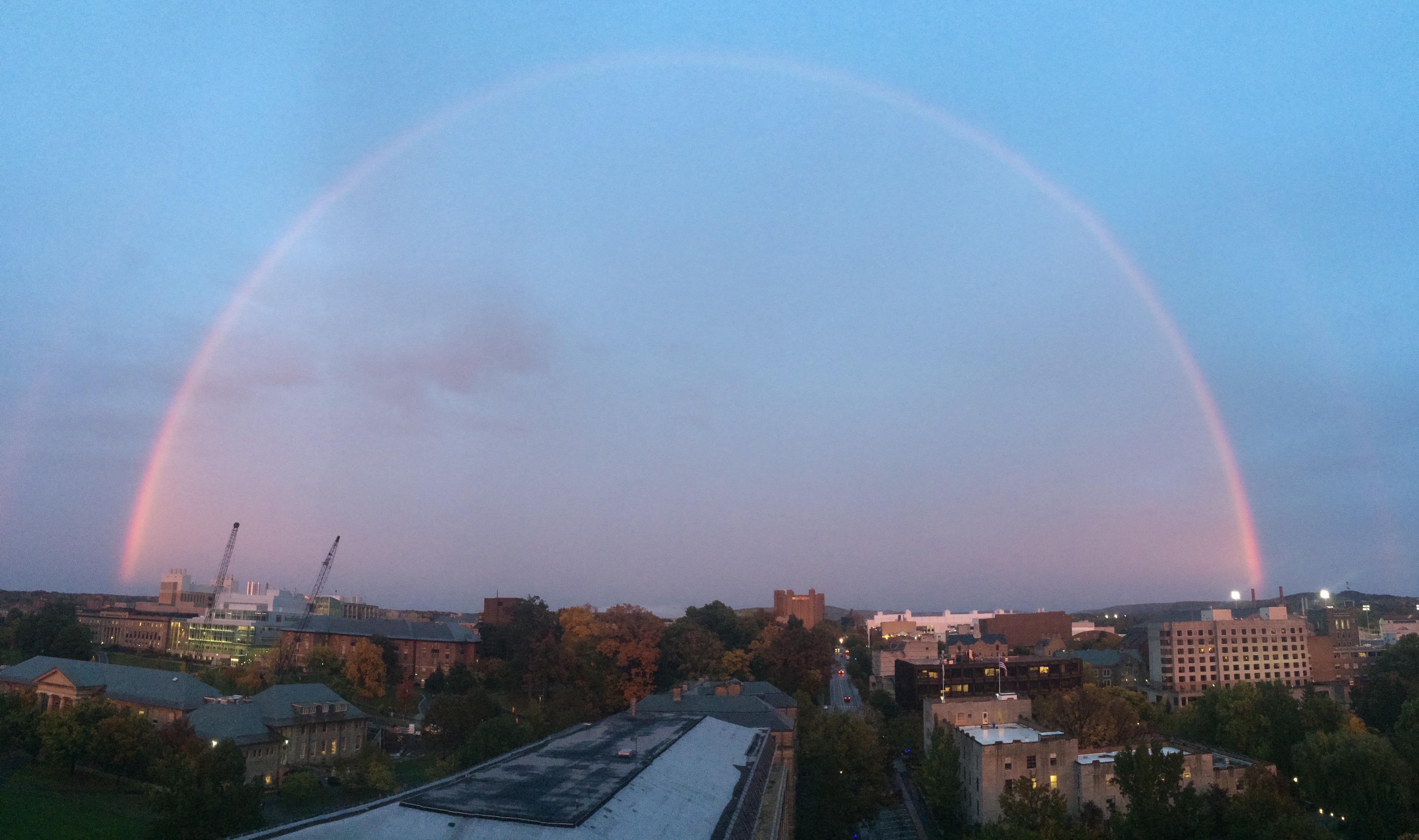 Rainbow over campus
