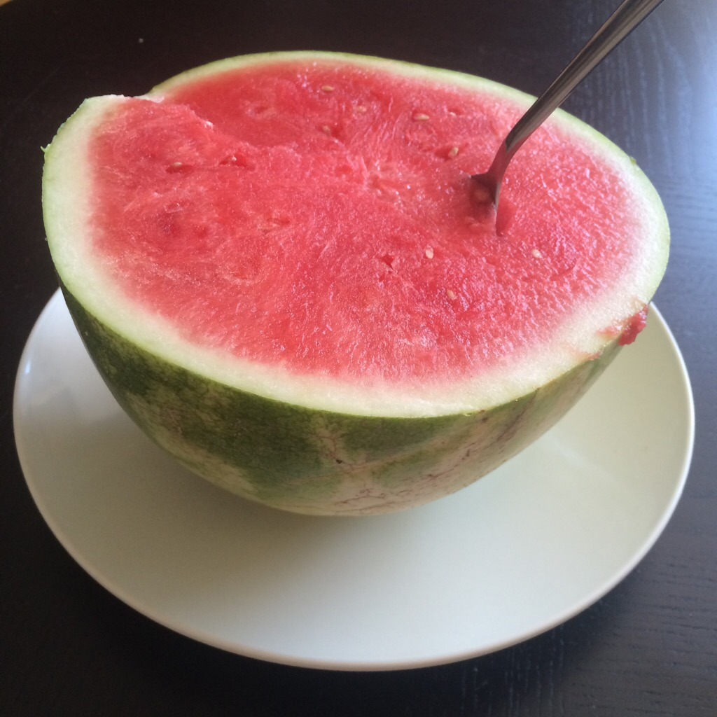 Monomeal-ing this watermelon. Delish