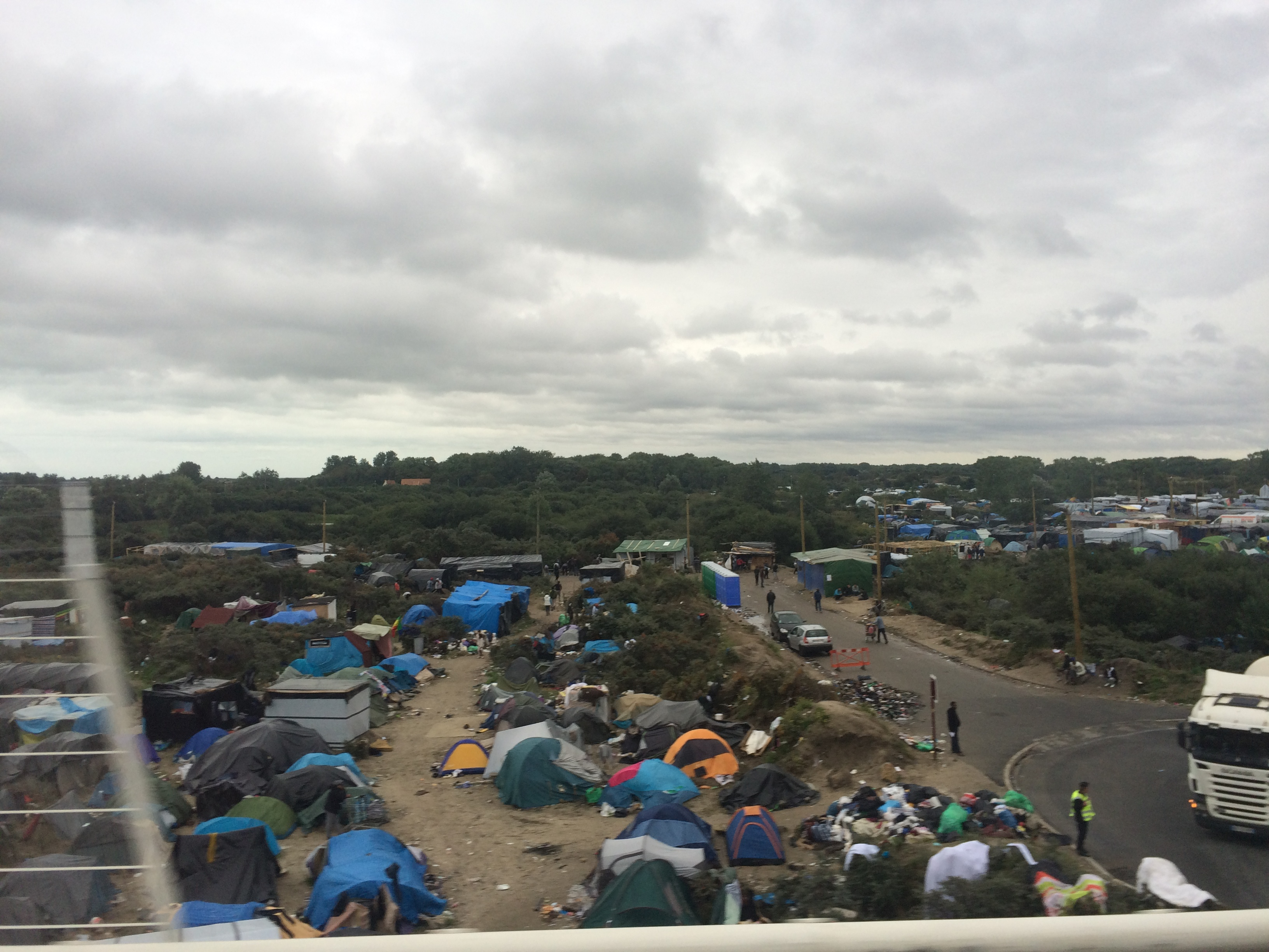 Migrant village in Calais