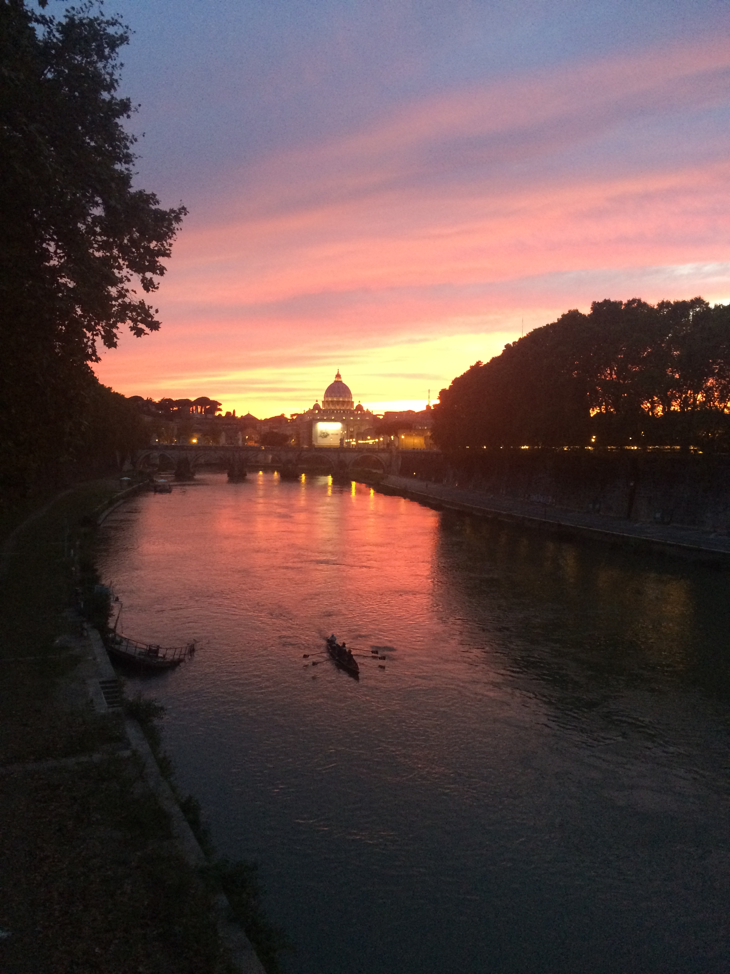 Sunset over St. Peter's Basilica