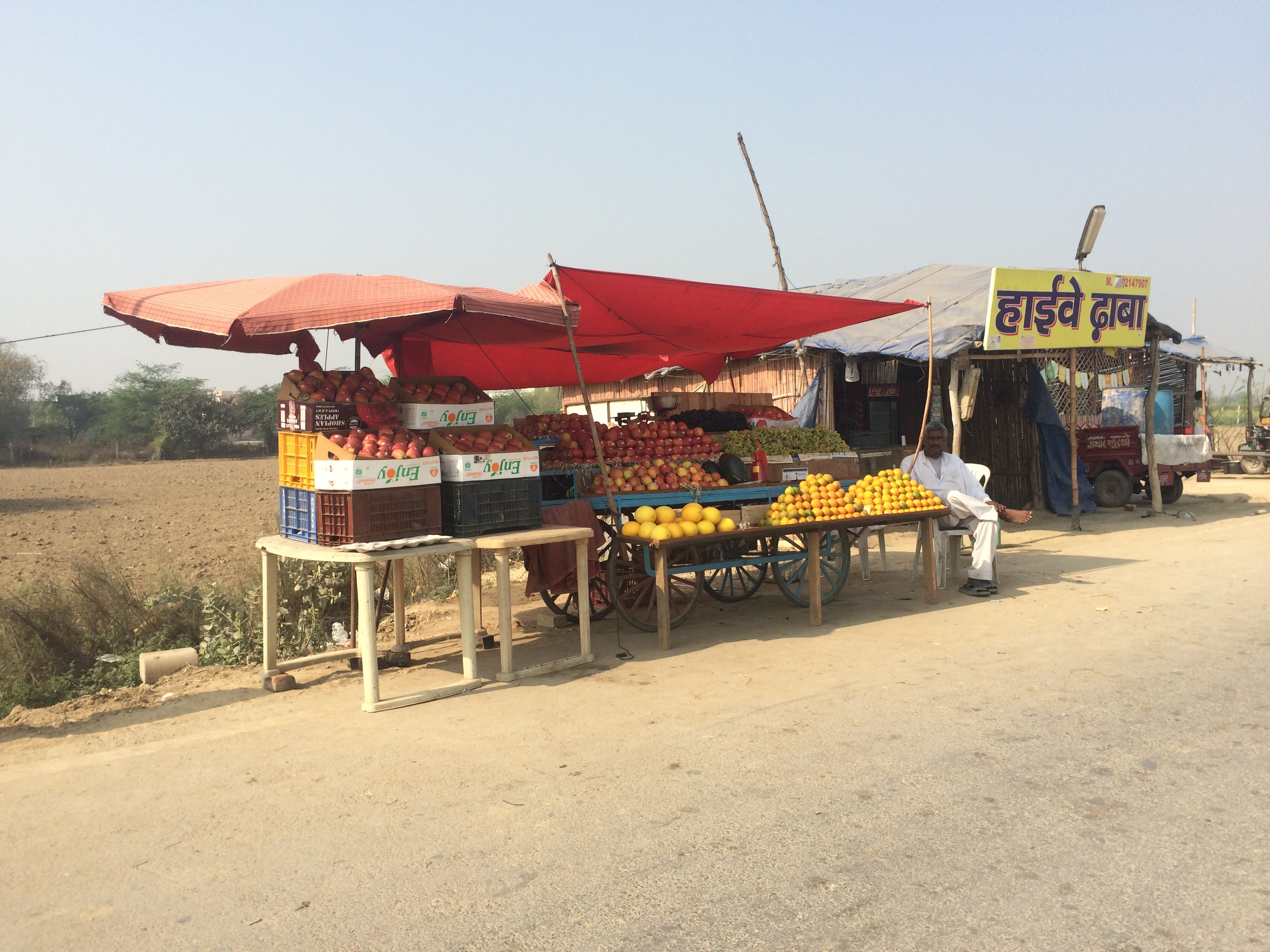 Fresh fruit stands