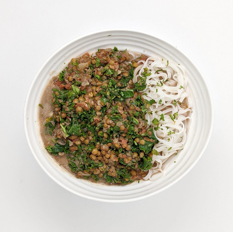 Instant Pot Green Lentil and Kale Dal